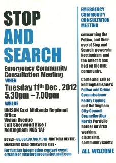 stop and search flyer
